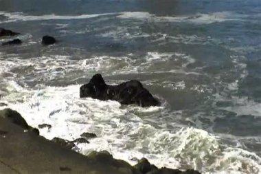 Rochas do oceano — Vídeo Stock