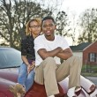 Couple on a Car — Stockfoto