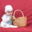 Royalty-Free Stock Photo: Boy looking into the basket