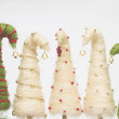Christmas trees made of sisal — Stock fotografie