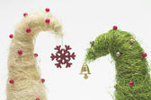 Christmas trees made of sisal — Stock Photo
