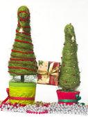 Christmas trees made of sisal — Stock Photo