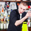 Barman in action — Stock Photo