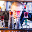 Barman making cocktail drinks — Stock Photo #19911683