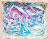 Multicolored gift ribbons — Stock Photo