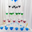 Pyramid holiday glasses on a background — Stock Photo