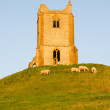Burrow Mump Somerset England — Stock Photo