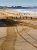 Weston-super-Mare beach in Somerset — Stock Photo