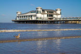 Weston-super-Mare sea front and Pier — Stock Photo