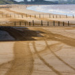 Weston-super-Mare beach looking towards Uphill — Stock Photo