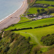 Branscombe Devon from the South-West costal walk — Stock Photo