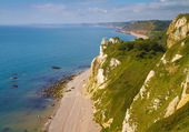 Branscombe beach looking towards Sidmouth — Stock Photo