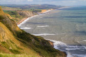 Dorset coast looking towards West Bay — Stock Photo