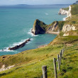Stock Photo: South West Coastal Path from Lulworth to Durdle Door