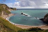Bay and coastline next to Durdle Door Dorset — Stock Photo