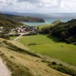 Lulworth Cove Dorset returning from Durdle Door — Stock Photo