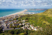 View over Portland and Chesil beach Dorset — Stock Photo