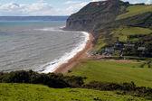 Seatown plaj ve güney batı kıyı yolu dorset — Stok fotoğraf