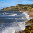 Stock Photo: West Bay beach and Dorset coastline