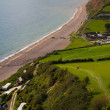 South West coastal path Branscombe Devon — Stock Photo