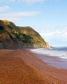 Seatown plaża i klify dorset — Zdjęcie stockowe