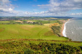 Dorset countryside and coast England UK — Stock Photo