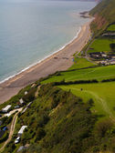 South West coastal path Branscombe Devon — Stock Photo