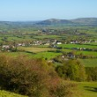 Stock Photo: View from Brent Knoll to Mendip Hills Somerset
