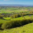 Stock Photo: View from Brent Knoll Somerset