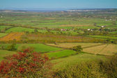 View from Brent Knoll Somerset — Stock Photo