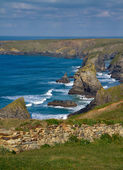 Bedruthan Steps Cornwall England UK — Stock Photo