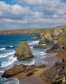 Bedruthan Steps North Cornwall England UK — Stock Photo