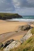 Porth Joke beach next to Crantock Cornwall England United Kingdom — Stock Photo