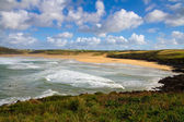 Crantock beach and bay North Cornwall near Newquay — Stock Photo