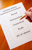 Zábava zpětnou vazbu formulář služeb zákazníkům — Stock fotografie