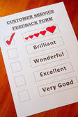 Fun Customer Service Feedback Form-love — Stock Photo