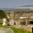 Stock Photo: View of Uphill and Weston-Super-Mare from church on hill