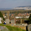 View of Uphill and Weston-Super-Mare from the church on the hill — Stock Photo