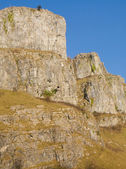 Limestone cliffs Cheddar Gorge Somerset England — Stock Photo