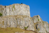 Limestone rock Cheddar Gorge Somerset England — Stock Photo