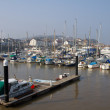 Watchet harbour Somerset England - Stock Photo