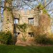 Dunster castle Somerset ruins in the ground of — Stock Photo