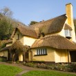 Stock Photo: English Thatched Cottage Selworthy Somerset
