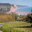 Sidmouth and coastline Devon England — Stock Photo
