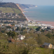 Sidmouth coastline Devon England — Stock Photo