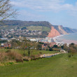 View of Sidmouth and coastline Devon England — Stock Photo