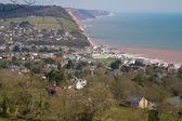 Sidmouth coastline Devon England — Stock Photo