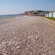 Stock Photo: Budleigh Salterton beach Devon South West England