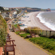 Stock Photo: South West Coast Path Budleigh Salterton Devon