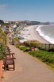 South West Coast Path Budleigh Salterton Devon — Stock Photo